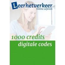 Digitale codes  per mail 1000 credits